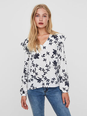 FLOWER LONG SLEEVED BLOUSE