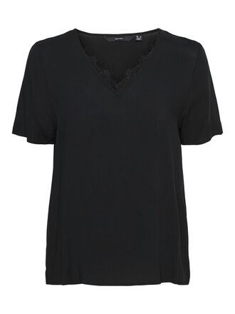 V-NECK SHORT SLEEVED TOP