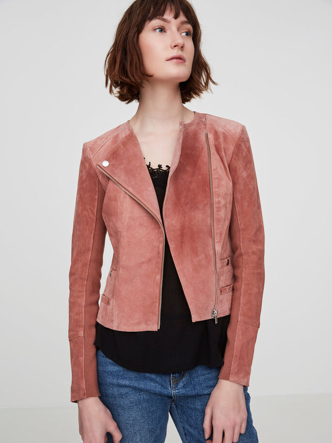 SUEDE JACKET, Cedar Wood, large