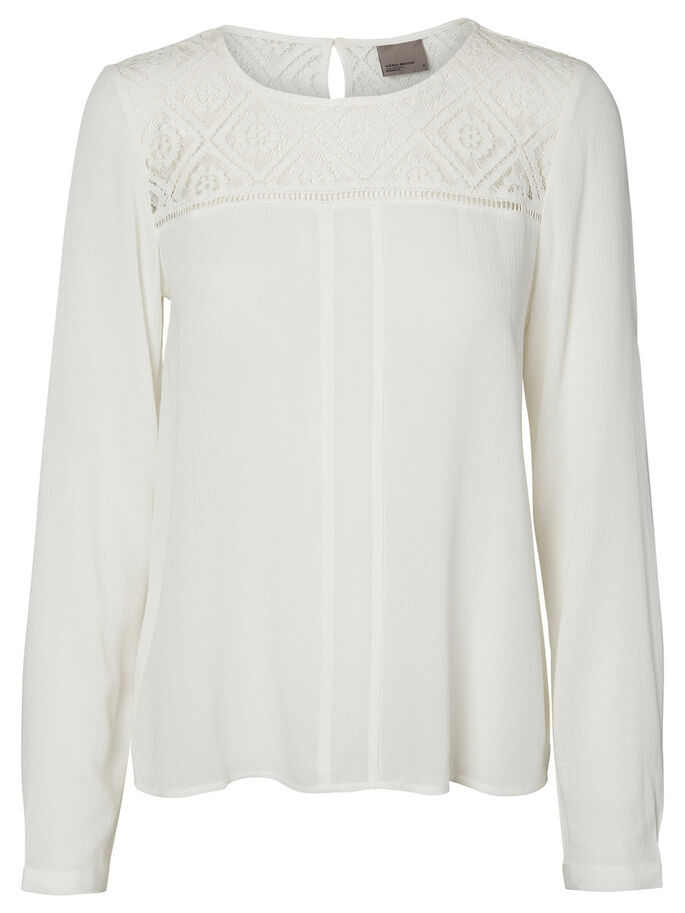 EMBROIDERED LONG SLEEVED TOP, Snow White, large