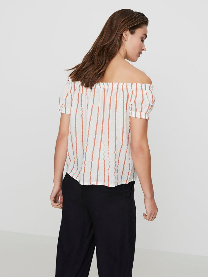 OFF-SHOULDER SHORT SLEEVED TOP, Snow White, large