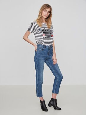 SEVEN NW ANKLE STRAIGHT FIT JEANS