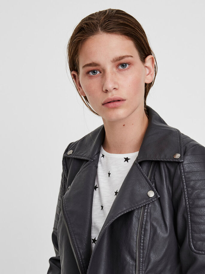 LEATHER-LOOK JACKET, Asphalt, large