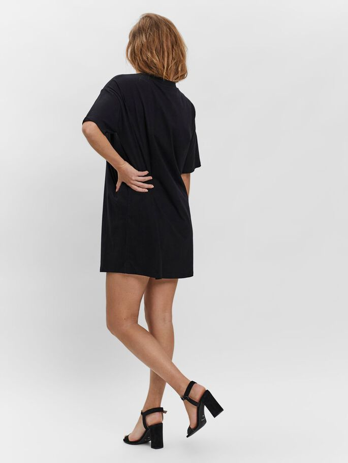 LONG OVERSIZED T-SHIRT, Black, large