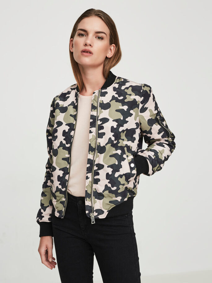 CAMO SHORT JACKET, Mermaid, large