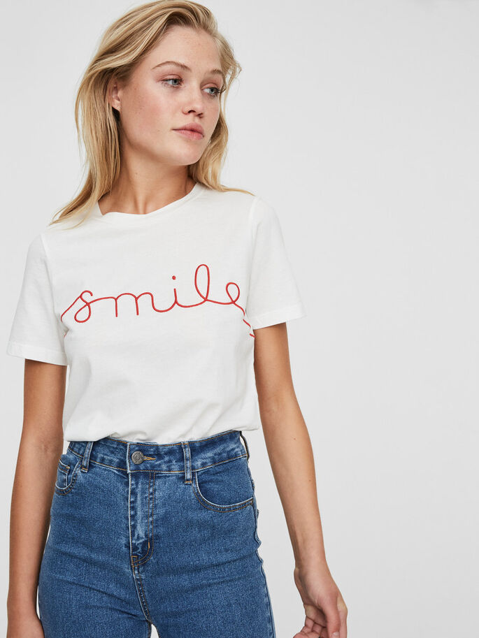 LÄSSIGES SMILE T-SHIRT, Snow White, large