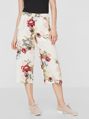 FLOWER CULOTTE TROUSERS