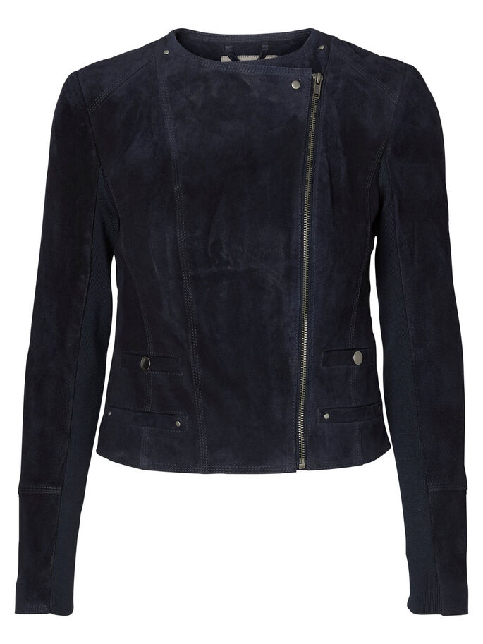SUEDE JACKET, Total Eclipse, large