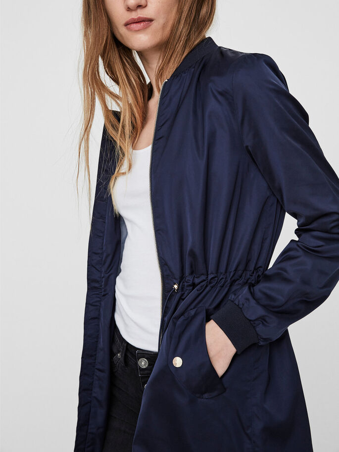 LONG SPRING JACKET, Navy Blazer, large