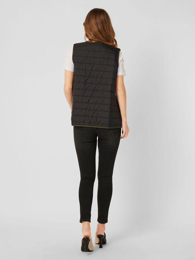 QUILTED VEST, Black, large