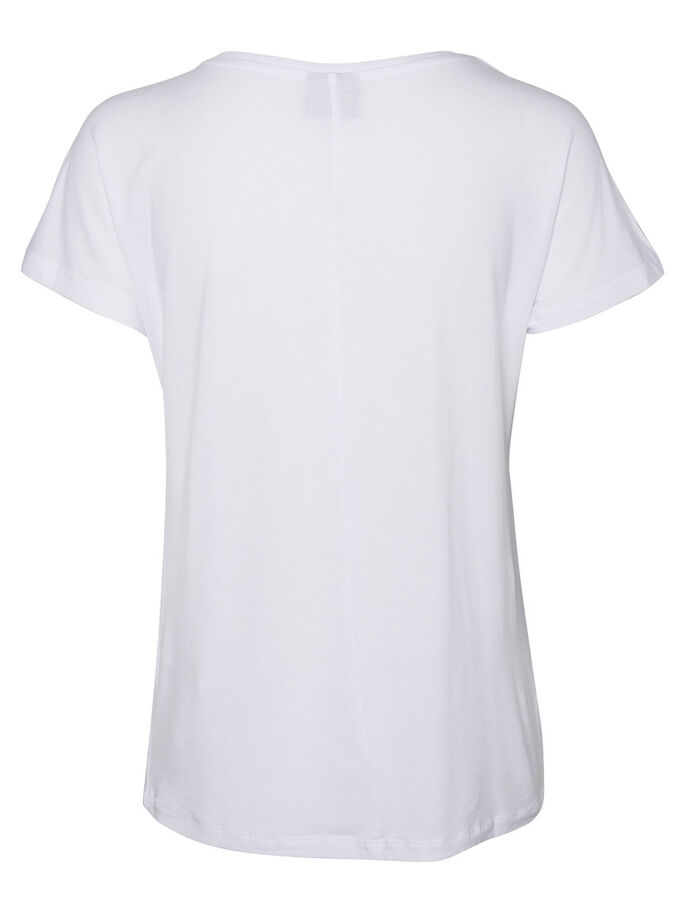 CASUAL KORTERMET TOPP, Bright White, large