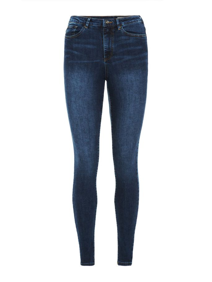 SOPHIA HW SKINNY FIT JEANS, Medium Blue Denim, large