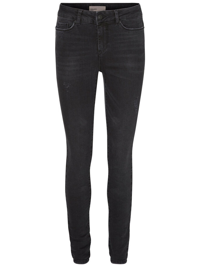 SEVEN NW SUPER SKINNY FIT JEANS, Black, large