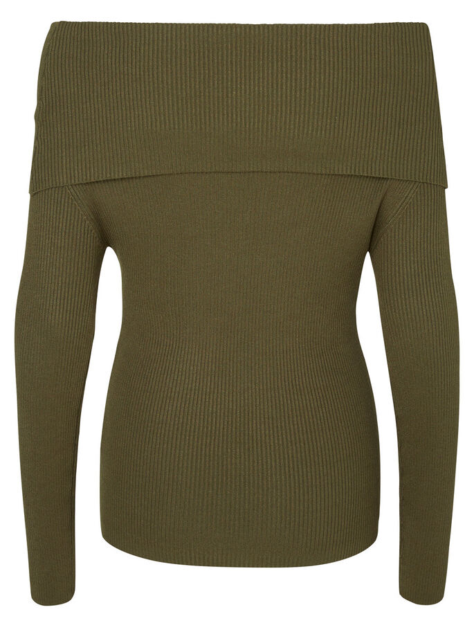 OFF-SHOULDER LONG SLEEVED TOP, Ivy Green, large