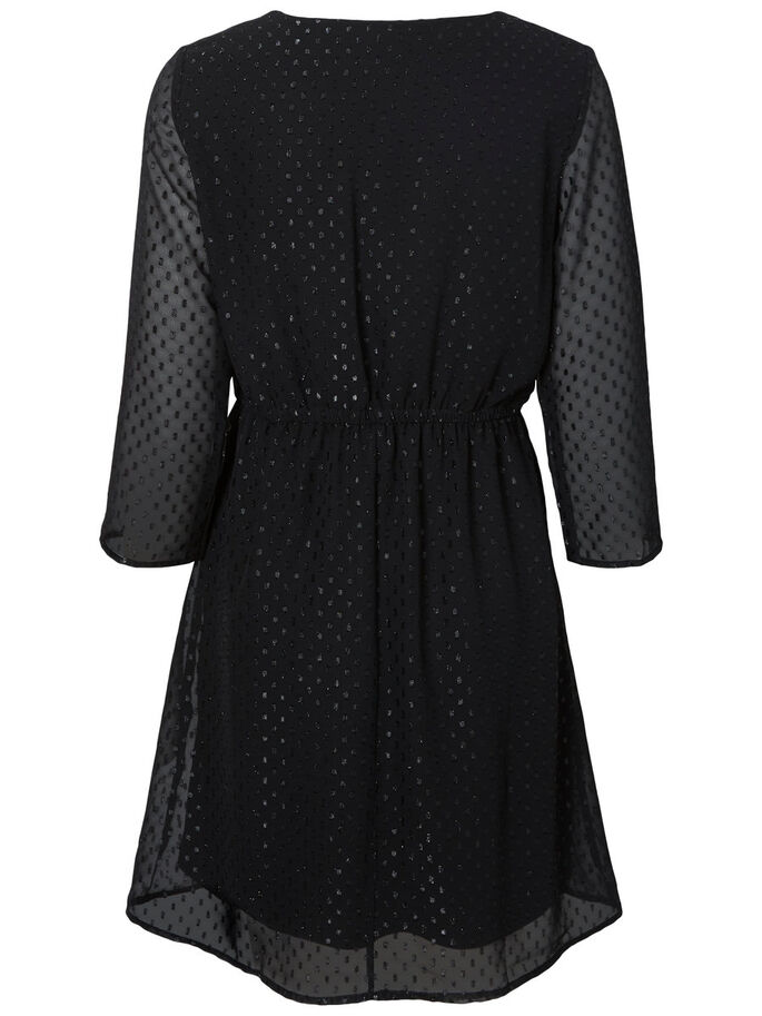 SILVER DOTTED DRESS, Black, large