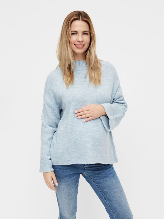 MLMERVE KNITTED MATERNITY PULLOVER, Kentucky Blue, large