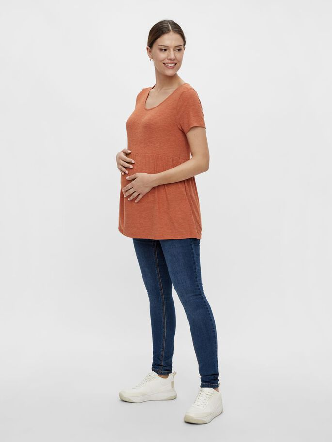 MLRUDY MATERNITY TOP, Bombay Brown, large