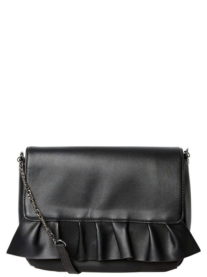 FRILL BAG, Black, large
