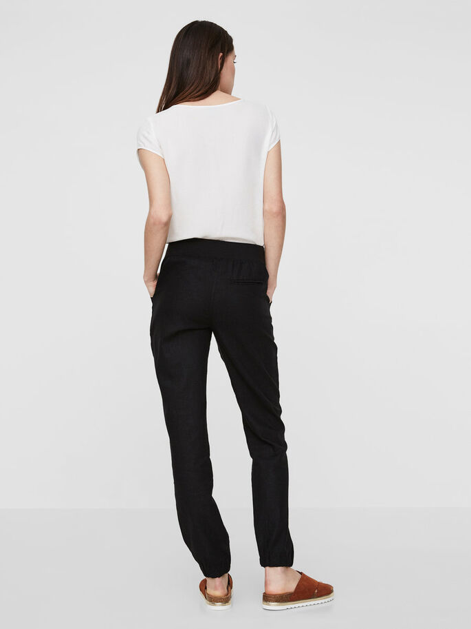 CASUAL TROUSERS, Black, large