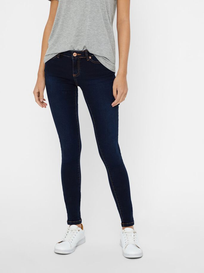 EVE LW SUPER SKINNY FIT JEANS, Dark Blue Denim, large