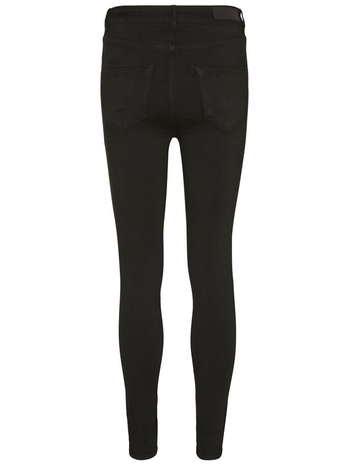 LUX HW ANKLE SKINNY FIT JEANS, Black, large