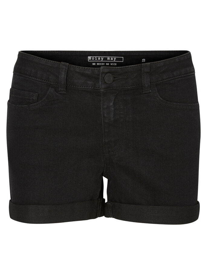 JEANS- SHORTS, Black, large