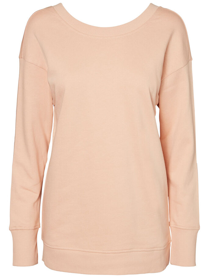 AWARE SWEATSHIRT, Rose Cloud, large