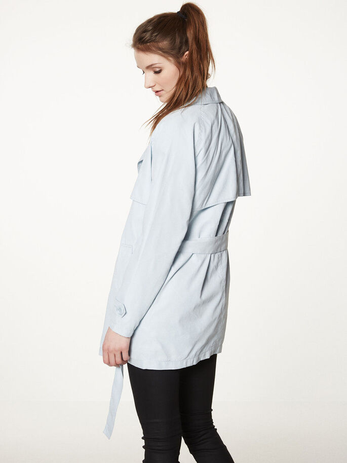 DOUBLE BREASTED TRENCHCOAT, Baby Blue, large