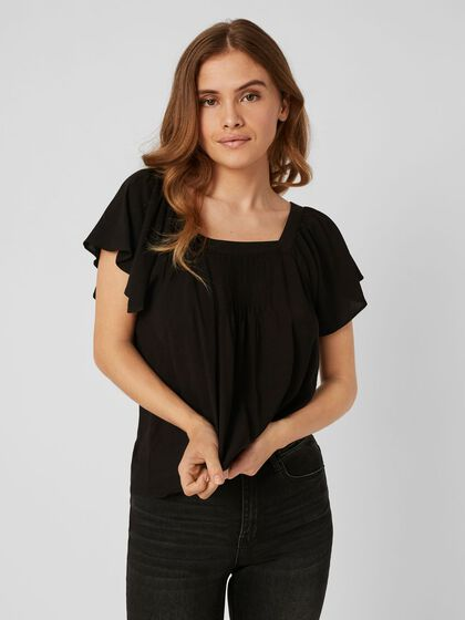 SQUARE NECK SHORT SLEEVED TOP