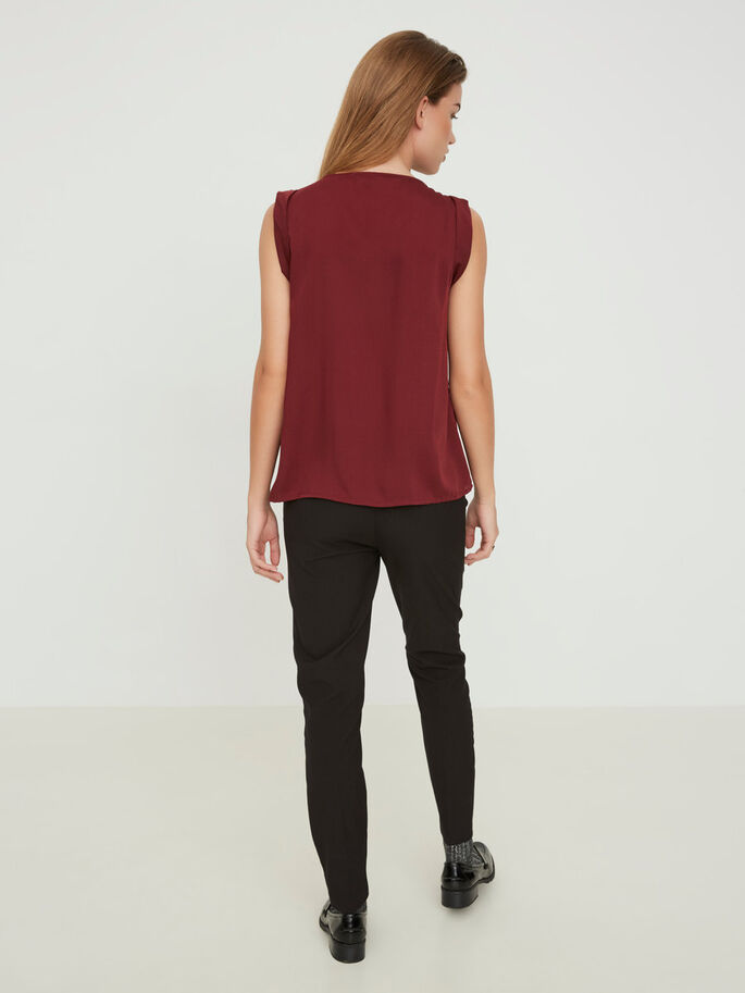 FEMININE SLEEVELESS TOP, Zinfandel, large