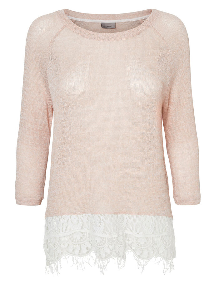 MAILLE BLOUSE MANCHES 3/4, Cream Tan, large