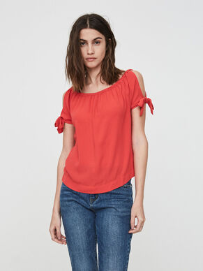 OFF-SHOULDER SHORT SLEEVED TOP