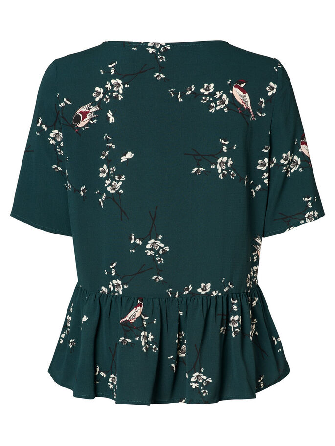 FLOWER SHORT SLEEVED TOP, Green Gables, large