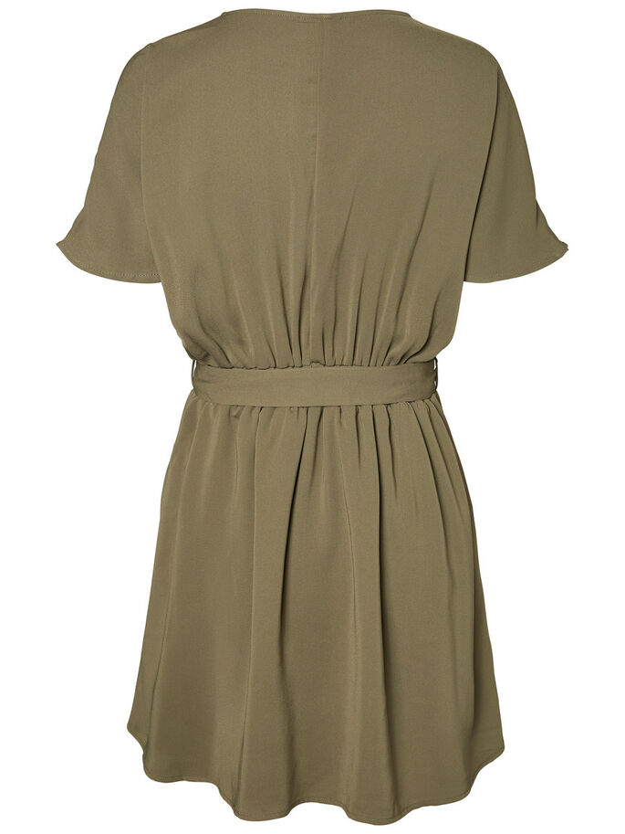 FEMININE SHORT SLEEVED DRESS, Ivy Green, large