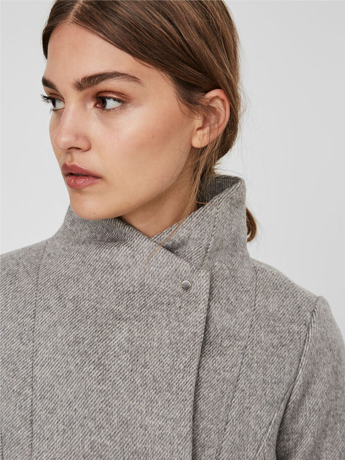 WOOL JAS, Light Grey Melange, large