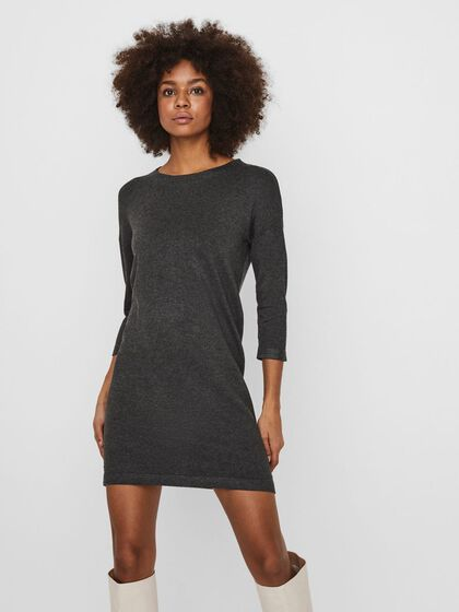 3/4 SLEEVED KNITTED DRESS