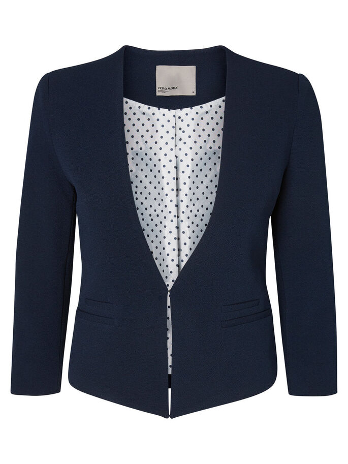 SHORT BLAZER, Navy Blazer, large