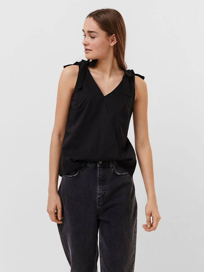 SANS MANCHES TOP, Black, large
