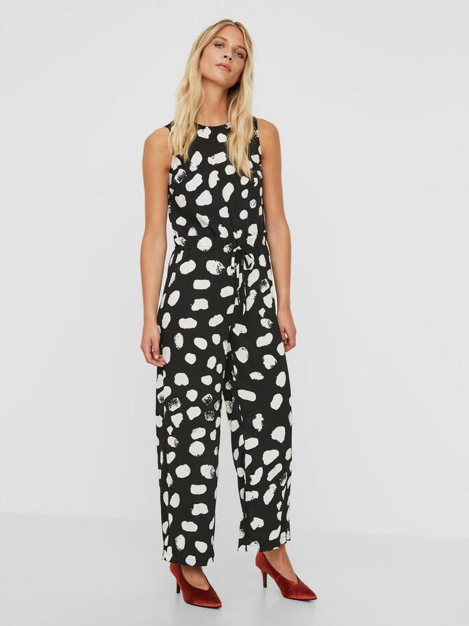 DOTTED JUMPSUIT, Black, large
