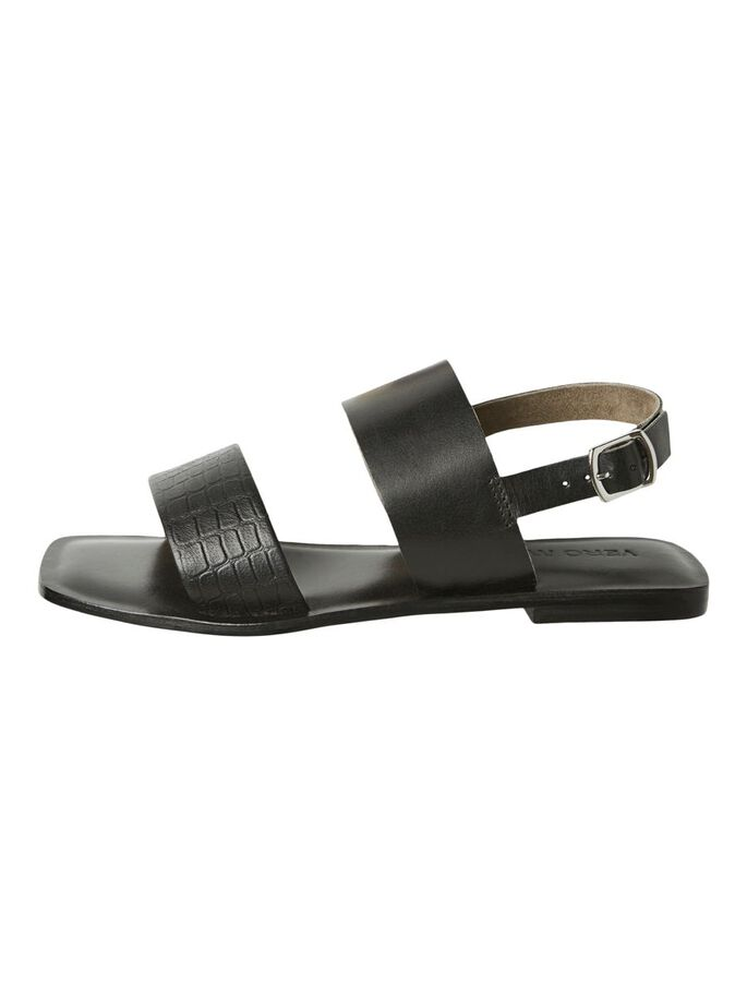 LEATHER SANDALS, Black, large