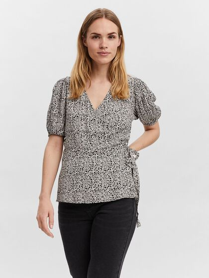 WRAP SHORT SLEEVED TOP