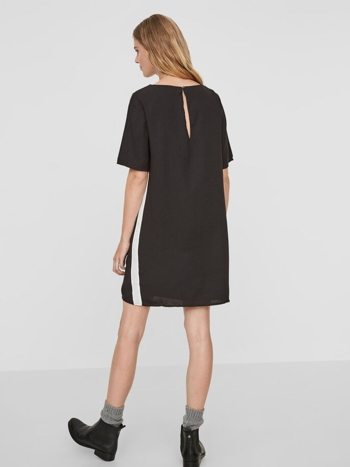 GABBY SHORT SLEEVED DRESS, Black, large