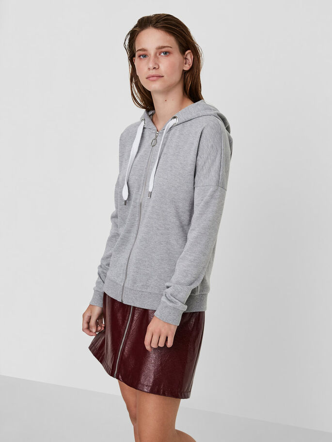 HUVFÖRSEDD SWEATSHIRT, Light Grey Melange, large