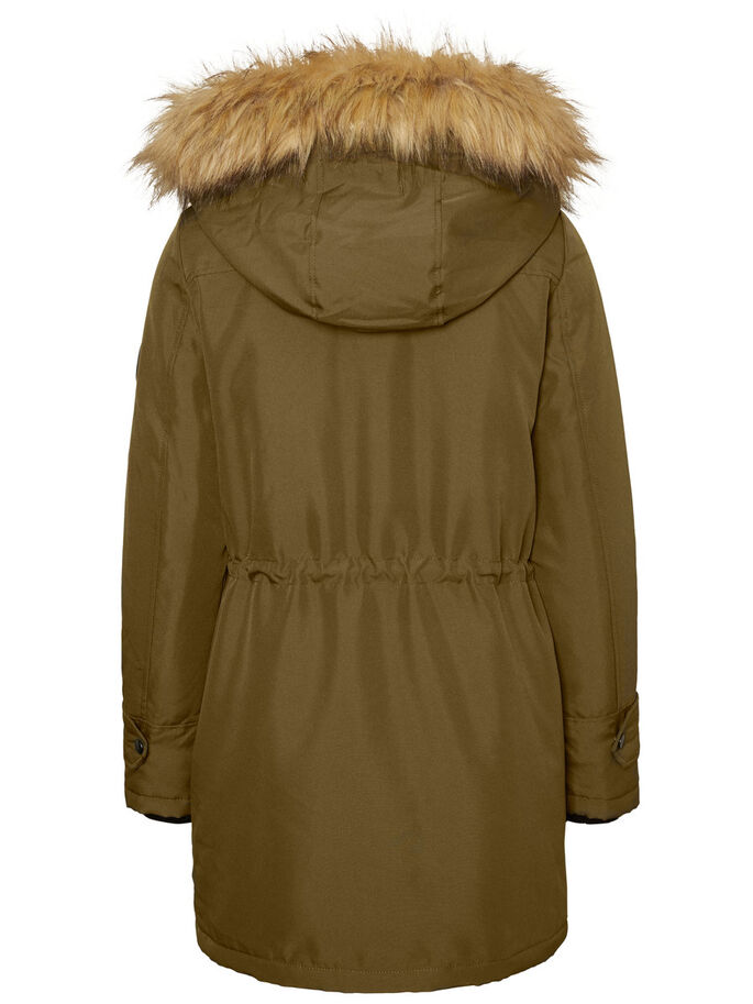 CASUAL PARKA COAT, Dark Olive, large
