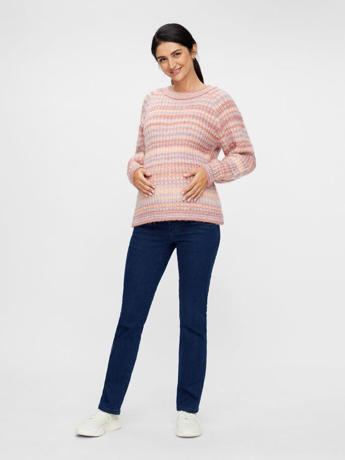 MLEVY MATERNITY PULLOVER, Peach Nectar, large