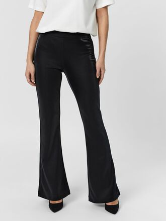 NORMAL WAIST FLARED SHIMMER TROUSERS