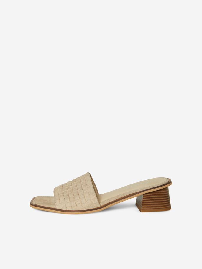LEATHER SANDALS, Birch, large