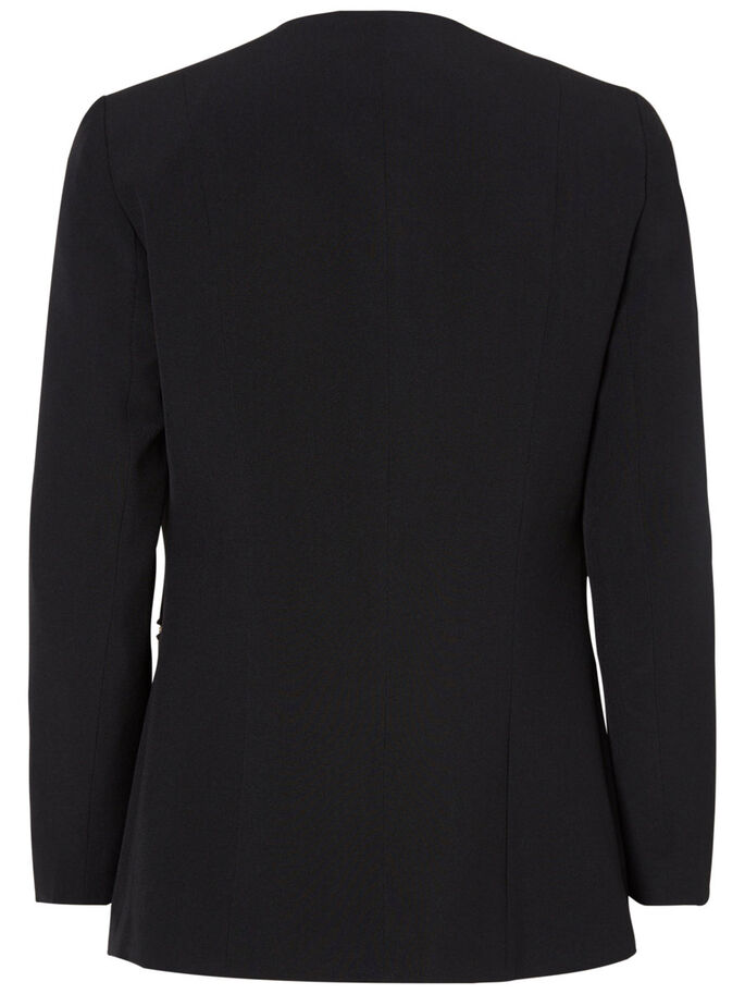 3/4 SLEEVED BLAZER, Black Beauty, large