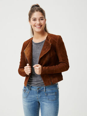 SHORT SUEDE JACKET