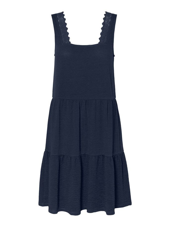 SLEEVELESS MINI DRESS, Navy Blazer, large